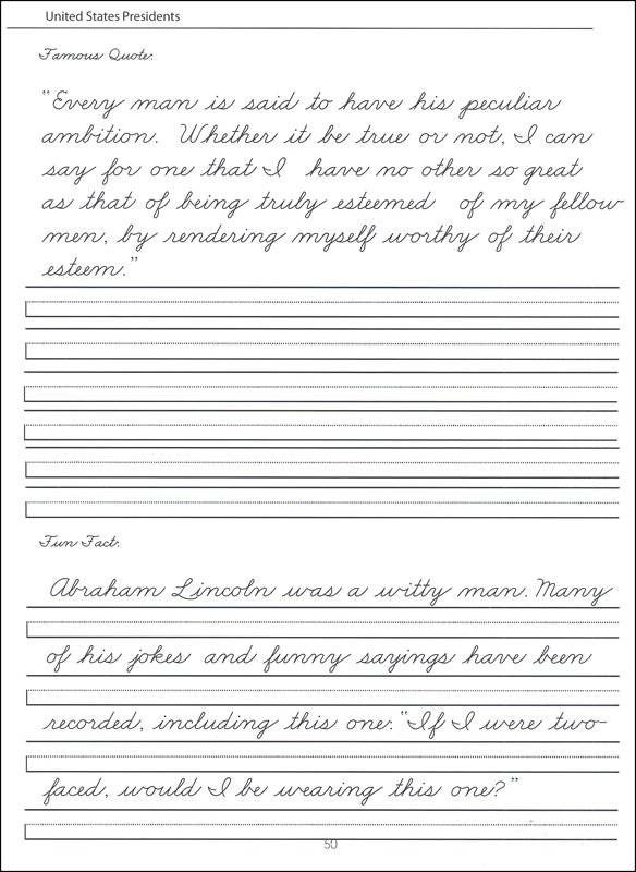 Collection Of Handwriting Worksheets For 4th Grade