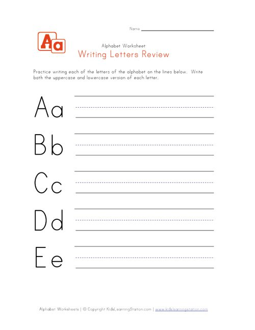 Collection Of Handwriting Worksheets For Alphabet