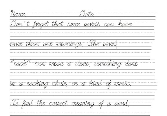 Collection Of Handwriting Worksheets High School