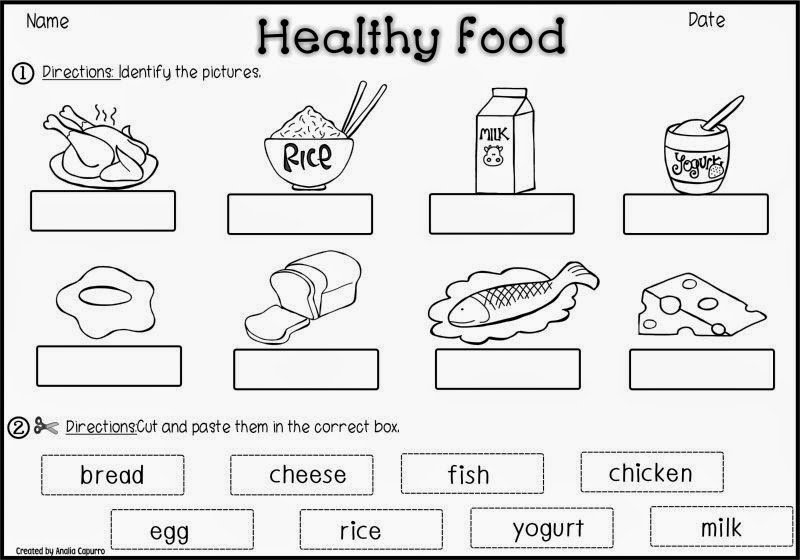 Collection Of Healthy And Unhealthy Food Worksheet For Preschool