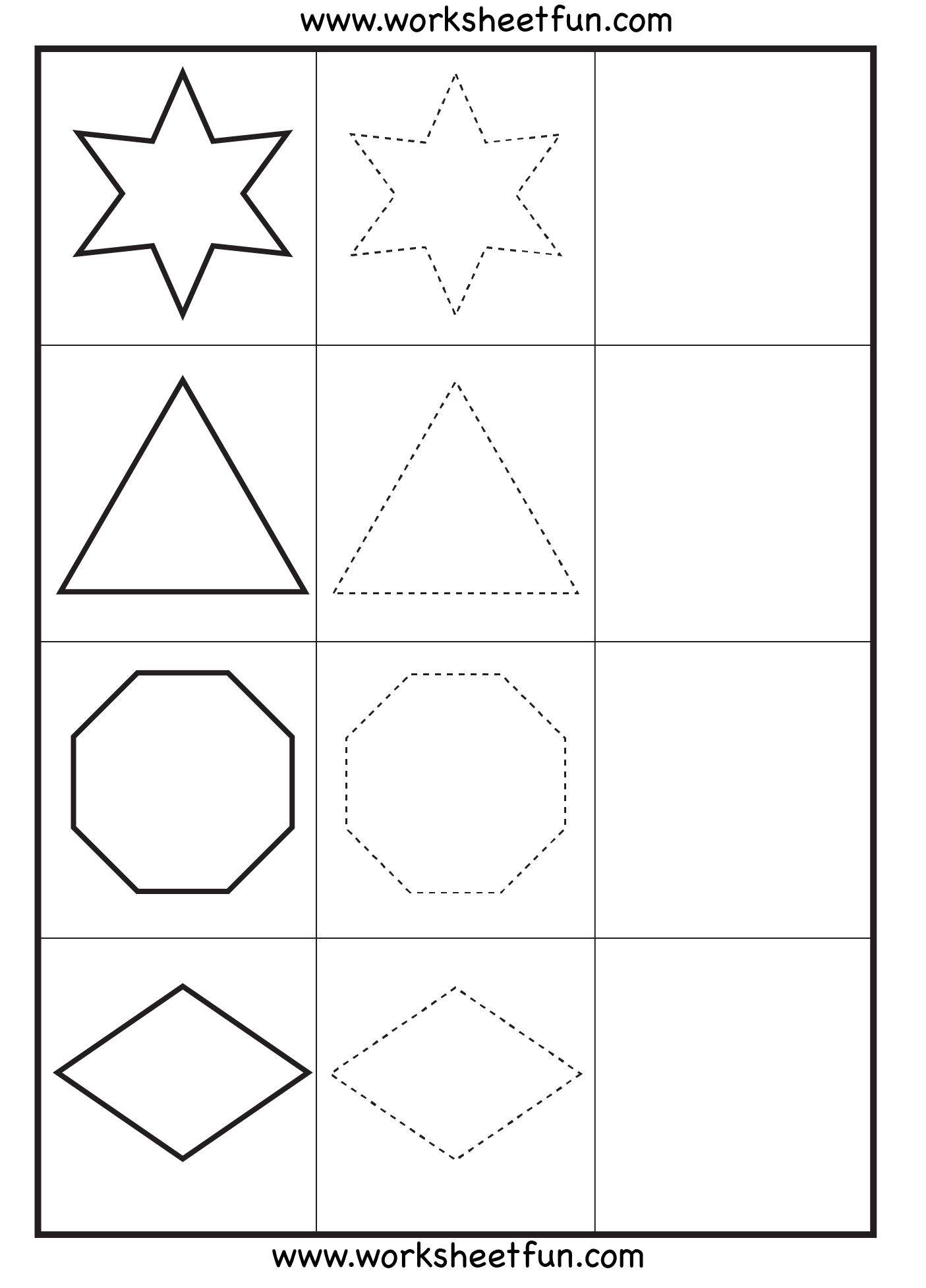 Collection Of Kindergarten Drawing Shapes Worksheet