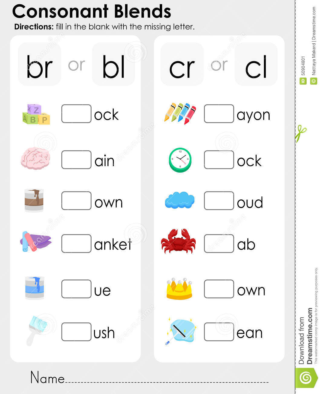 Collection Of Kindergarten Phonics Blends Worksheets