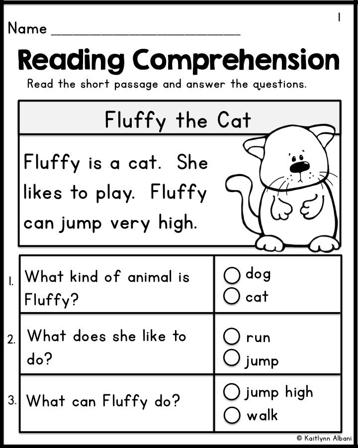 Collection Of Kindergarten Reading Worksheets With Questions