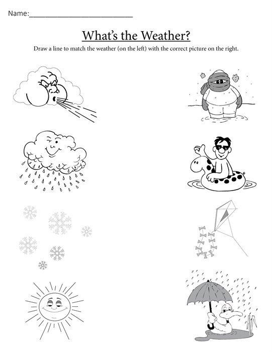 Collection Of Kindergarten Weather Worksheets