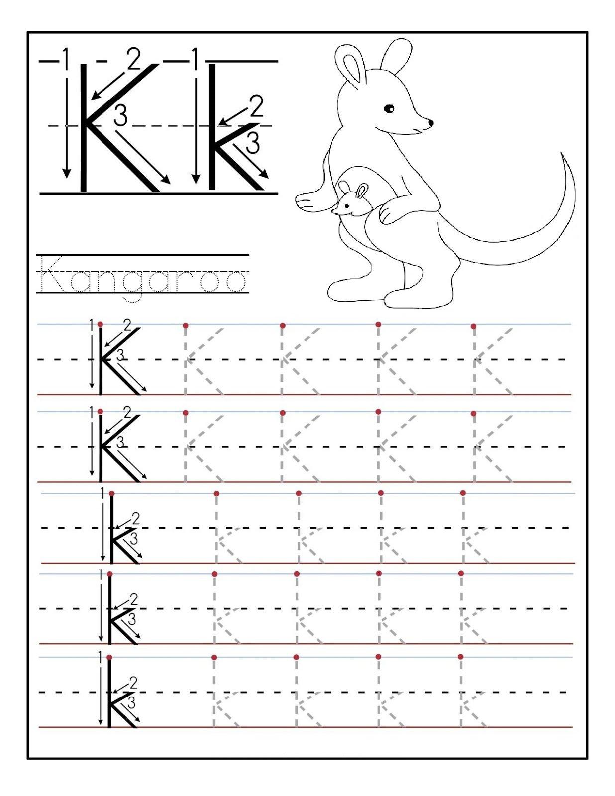 Collection Of Kindergarten Worksheet Letter K