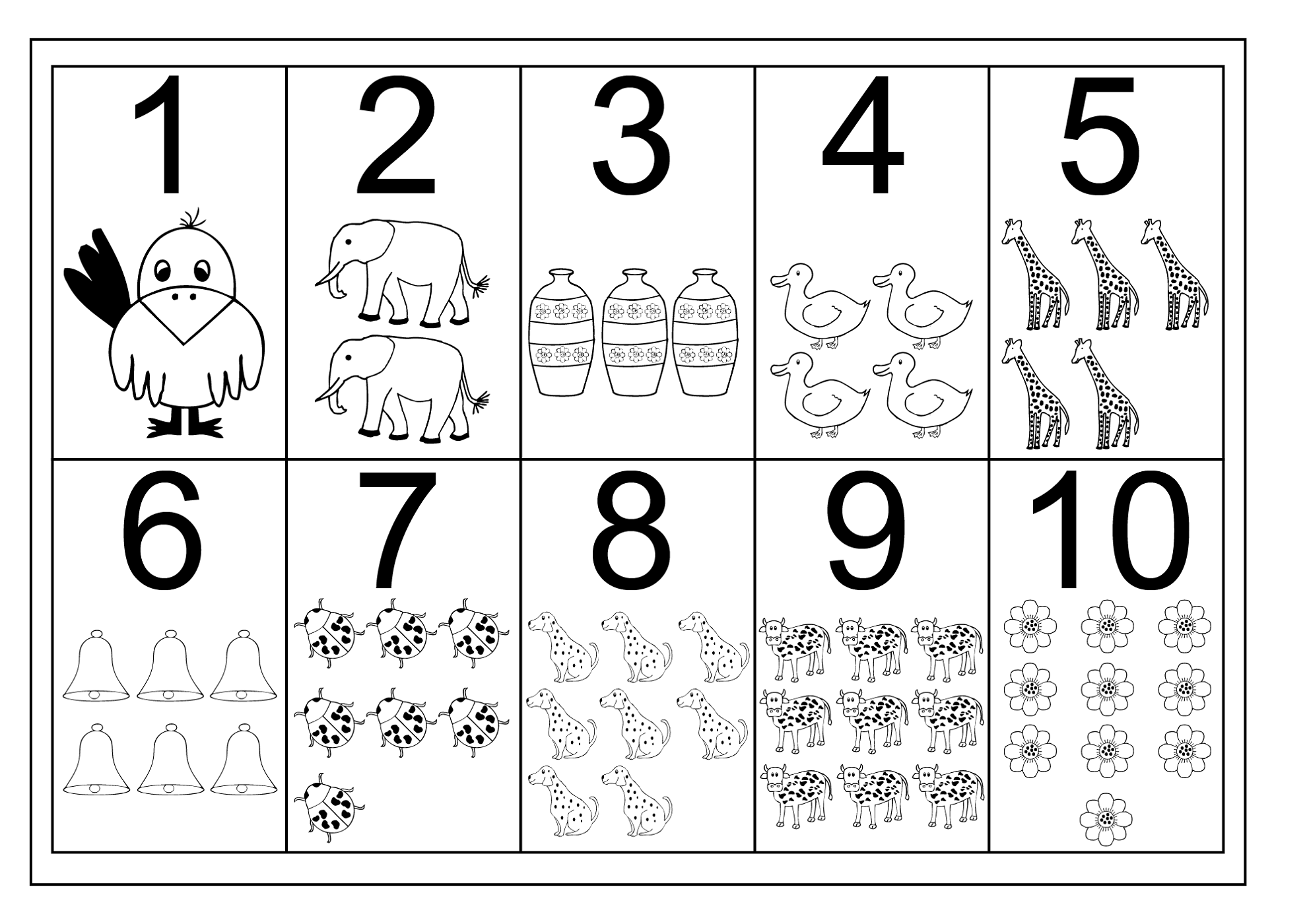 Collection Of Kindergarten Worksheet Numbers 1 10
