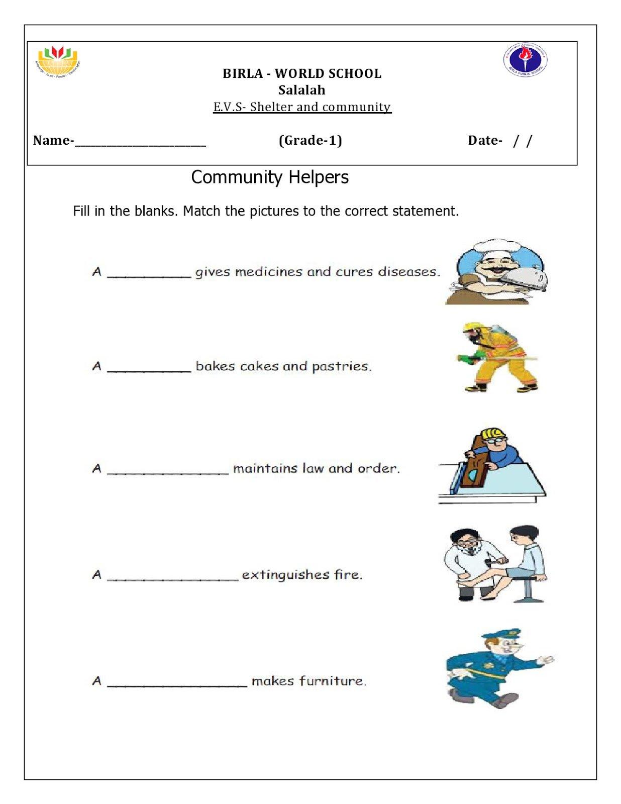 Collection Of Kindergarten Worksheets Evs