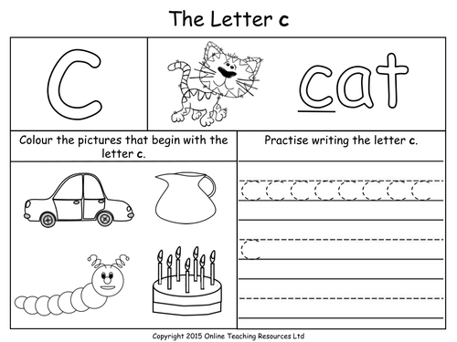 Collection Of Letter C Worksheets For Kindergarten
