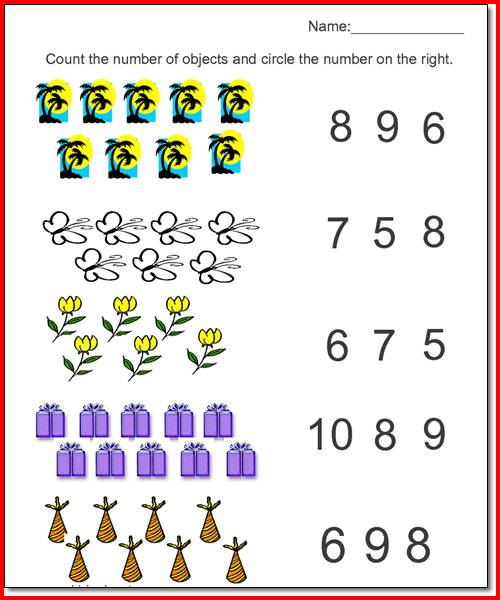 Collection Of Math Worksheet Kindergarten