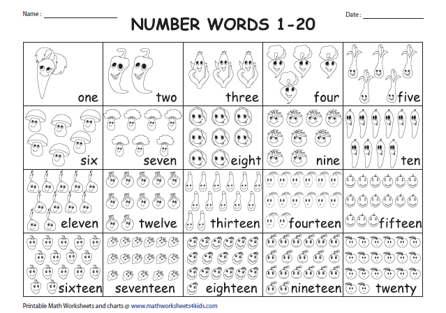 Collection Of Math Worksheets 1 To 20 Numbers
