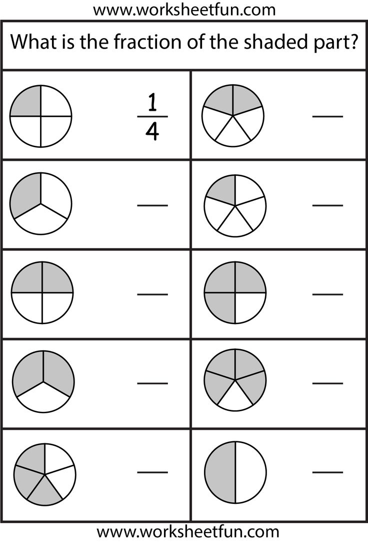 Collection Of Math Worksheets For Grade 2 Fractions