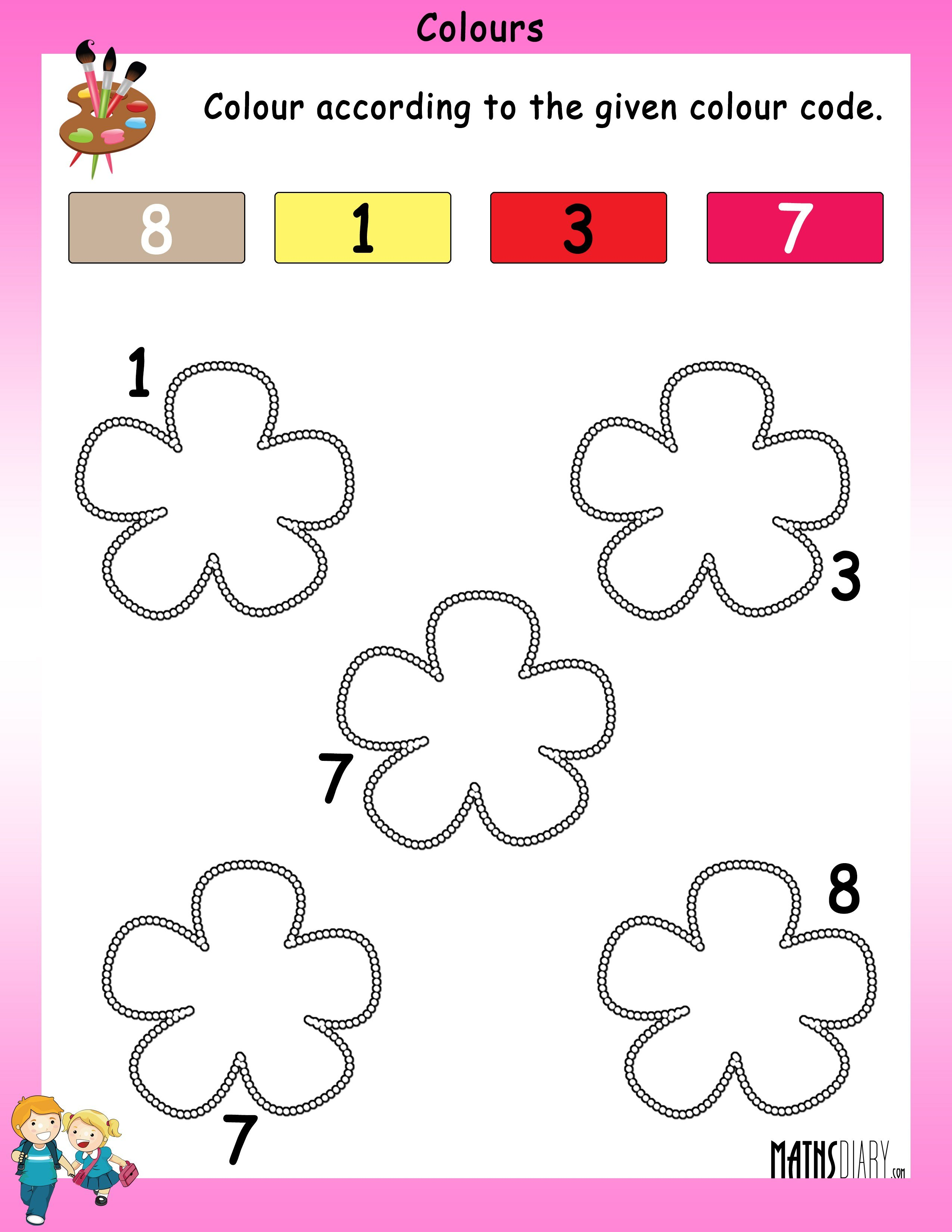 Collection Of Math Worksheets Nursery