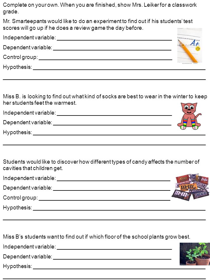 Collection Of Math Worksheets On Independent And Dependent