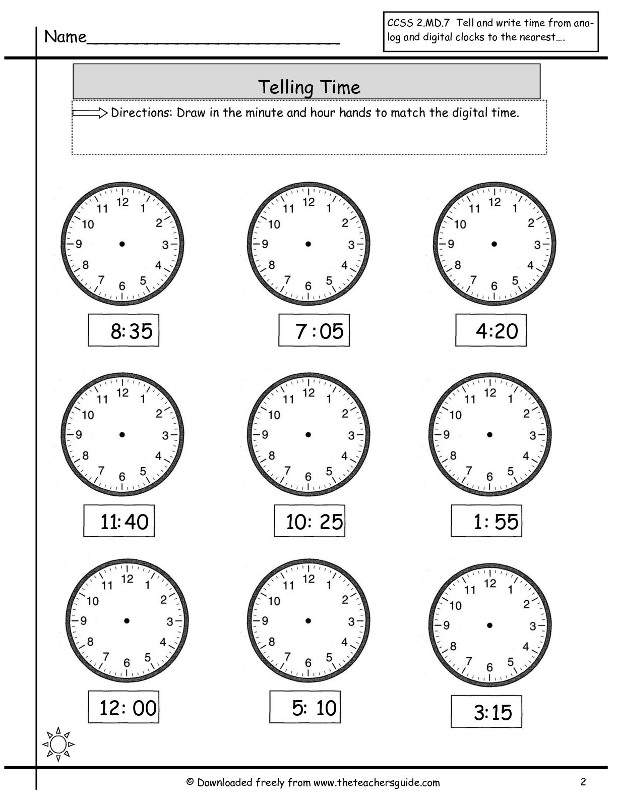 Collection Of Maths Worksheets For Ks1 Time