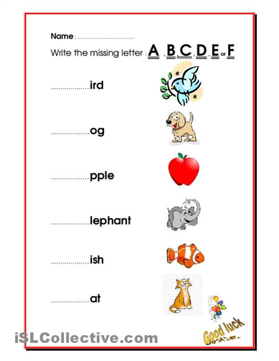 Collection Of Missing Letters Worksheets For Kindergarten