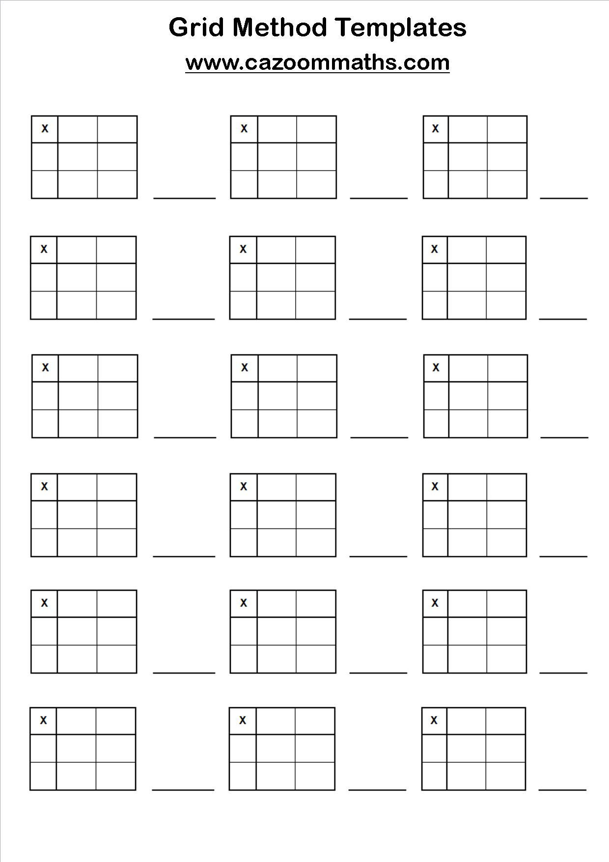 Collection Of Multiplication Worksheets Ks2 Grid Method