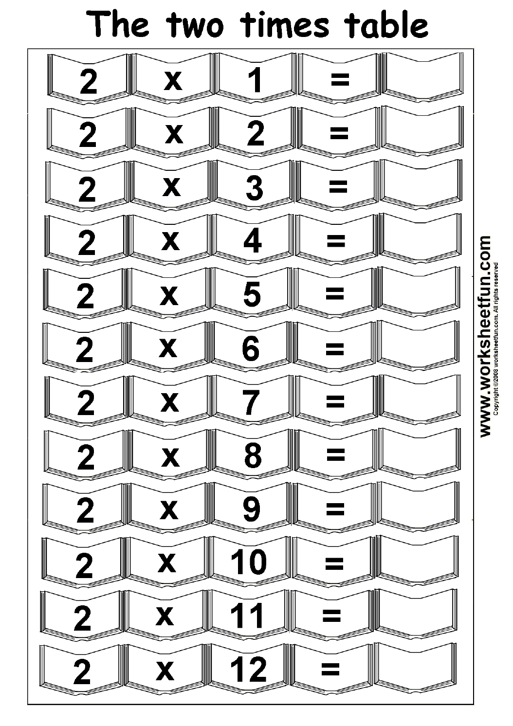 Collection Of Multiplication Worksheets With 2