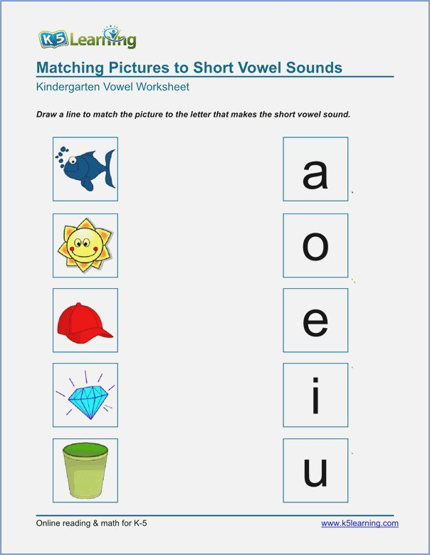 Collection Of Phonics Vowels Worksheets Kindergarten