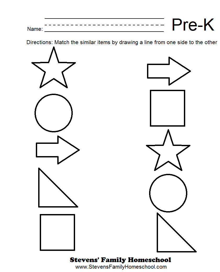 Collection Of Pre Kindergarten Maths Worksheets