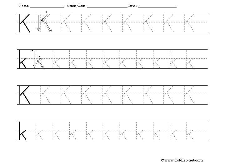 Collection Of Preschool Activity For The Letter K
