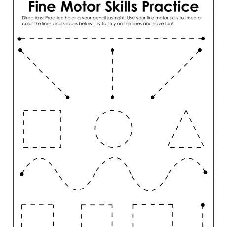 Collection Of Preschool Fine Motor Skills Worksheet