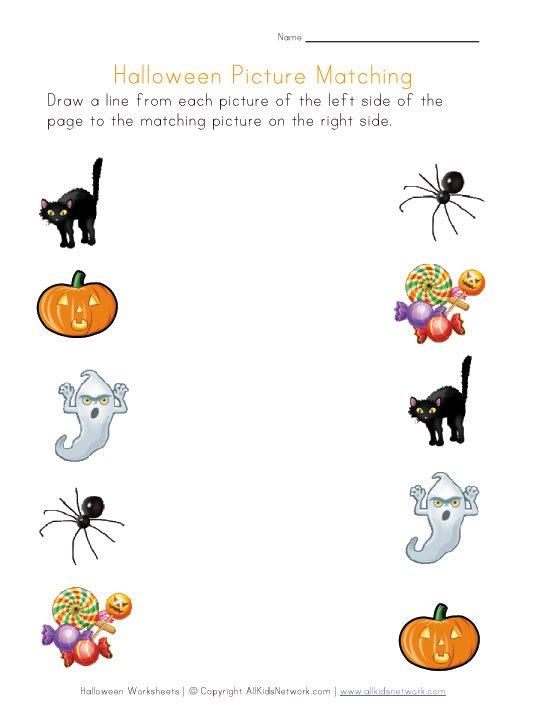 Collection Of Preschool Halloween Worksheets