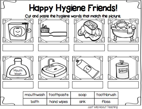 Collection Of Preschool Personal Hygiene Worksheets