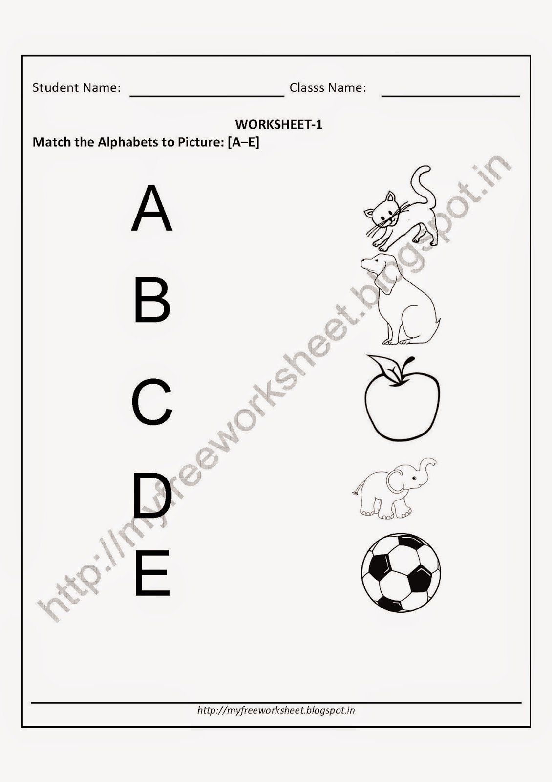 Collection Of Preschool Worksheet Download