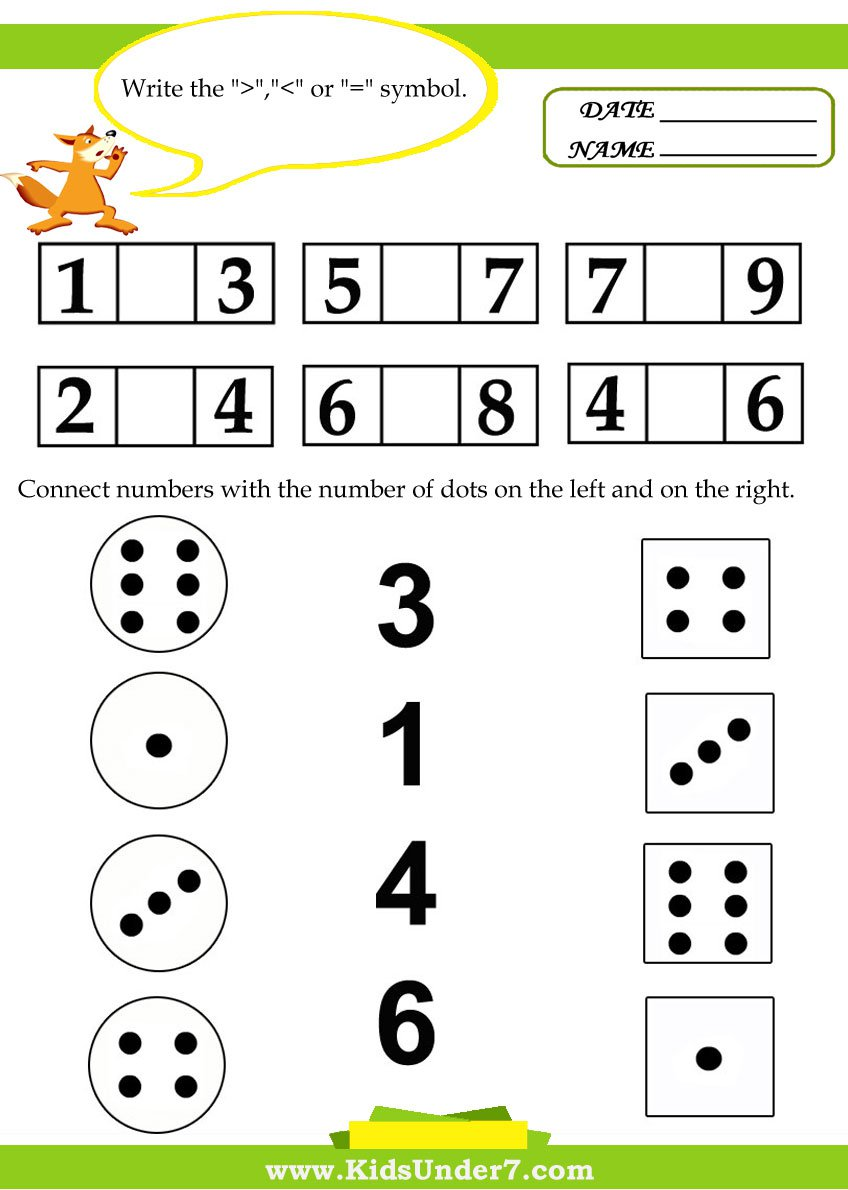 Collection Of Preschool Worksheet For Math