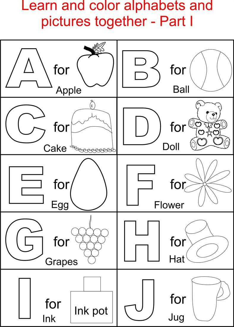 Collection Of Preschool Worksheets Alphabet