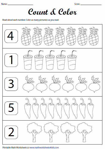 Collection Of Preschool Worksheets Counting