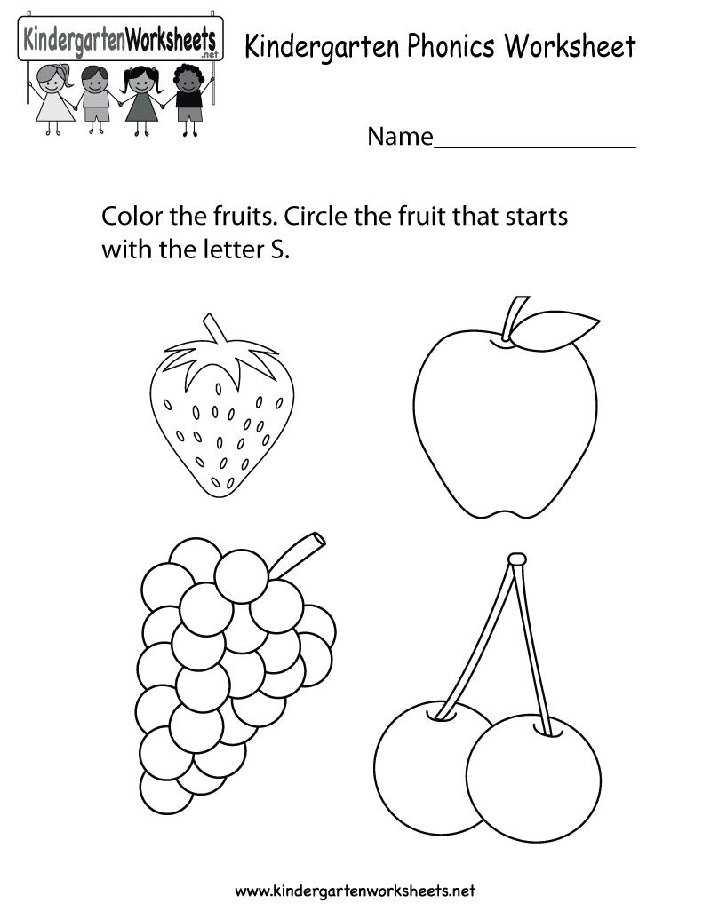 Collection Of Preschool Worksheets For Kindergarten
