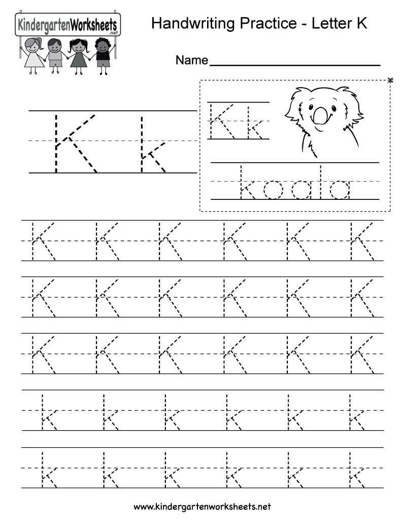 Collection Of Preschool Worksheets The Letter K