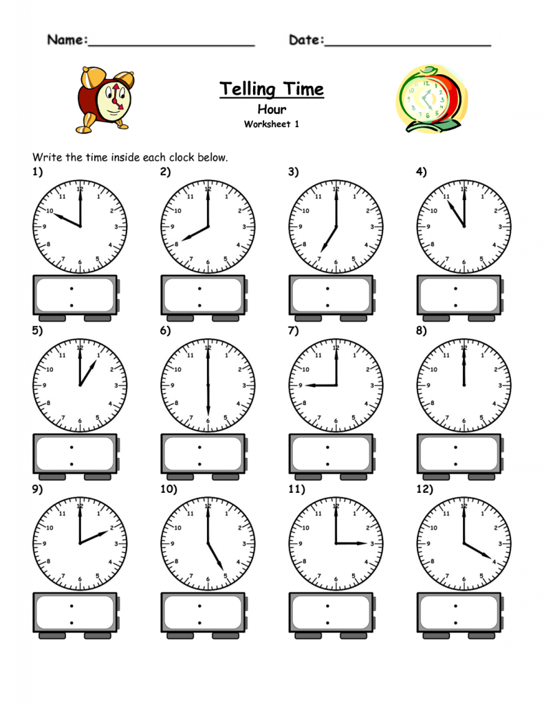 Collection Of Preschool Worksheets Time