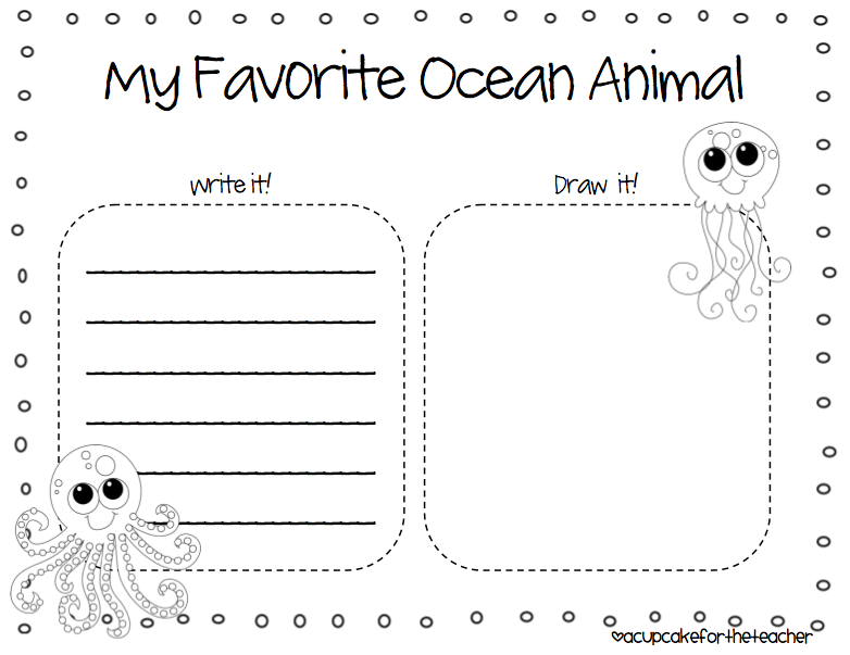 Collection Of Preschool Worksheets Under The Sea