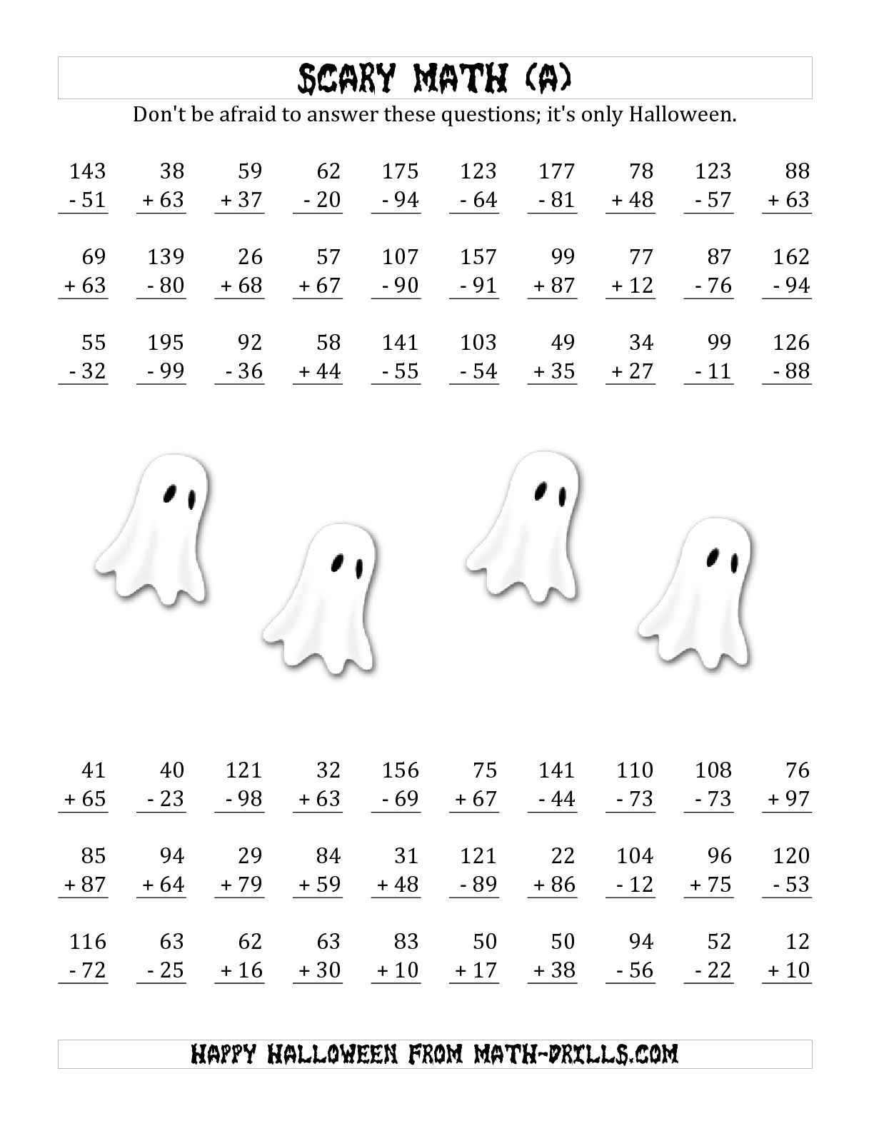 Collection Of Printable Halloween Multiplication Worksheets