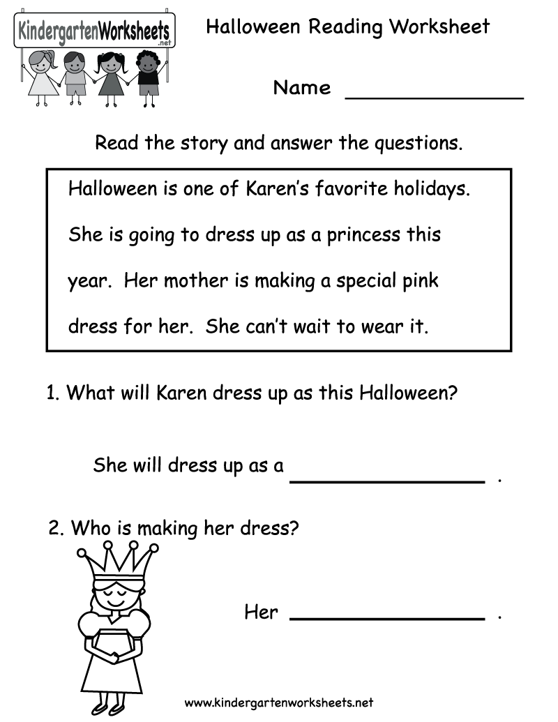 Collection Of Reading Printable Worksheets For Kindergarten
