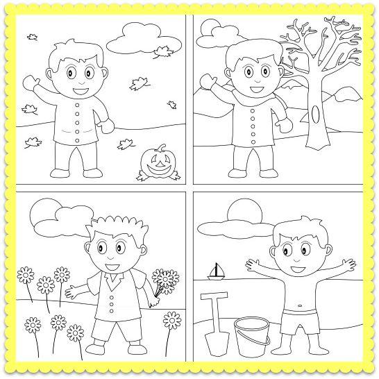Collection Of Seasons Printable Worksheets Kindergarten