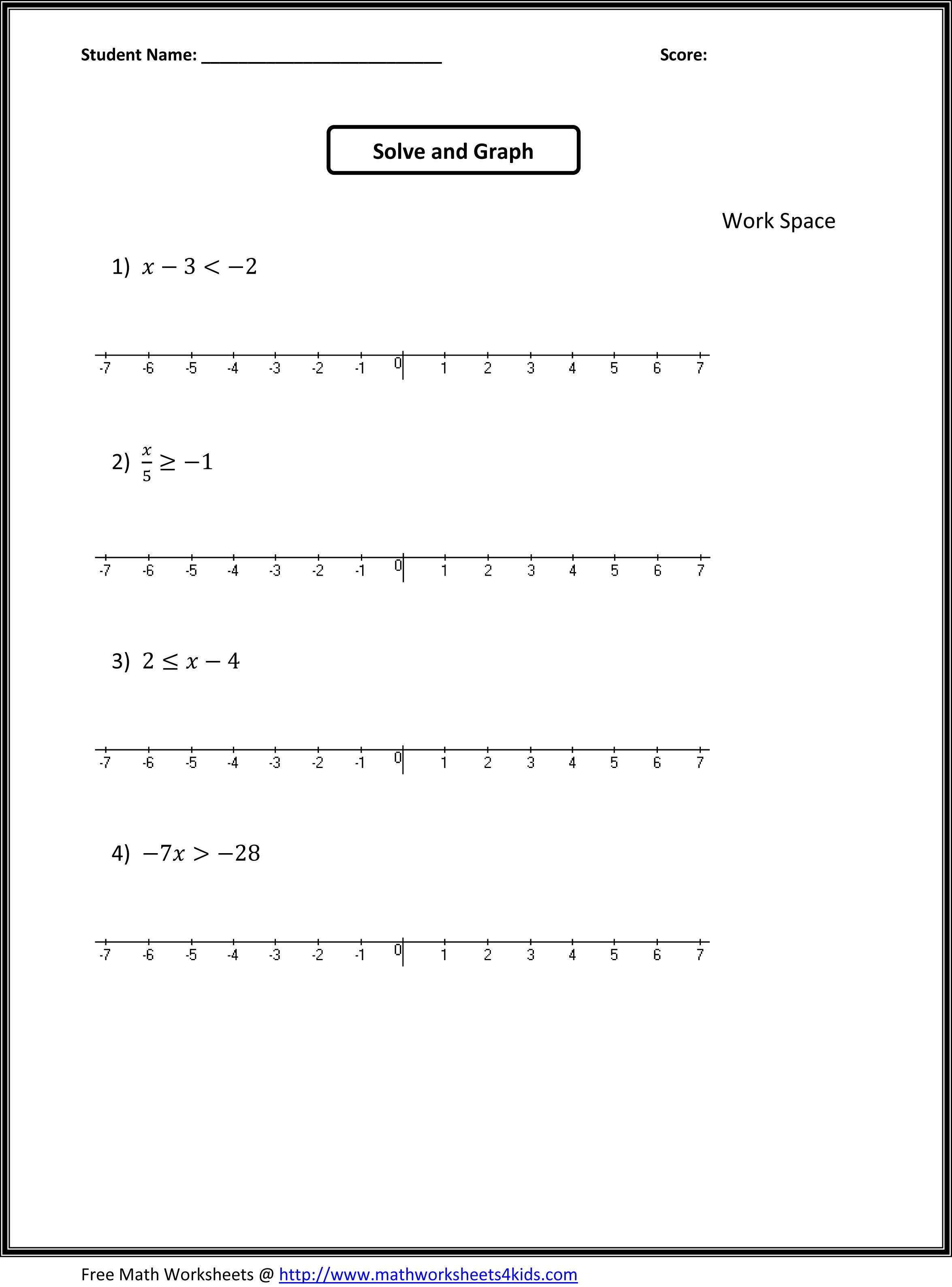 Collection Of Seventh Grade Math Worksheets Pdf