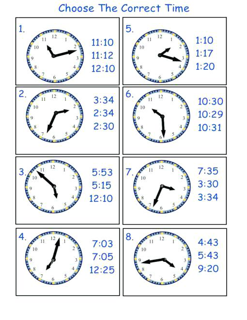 Collection Of Telling Time Worksheets For Preschool