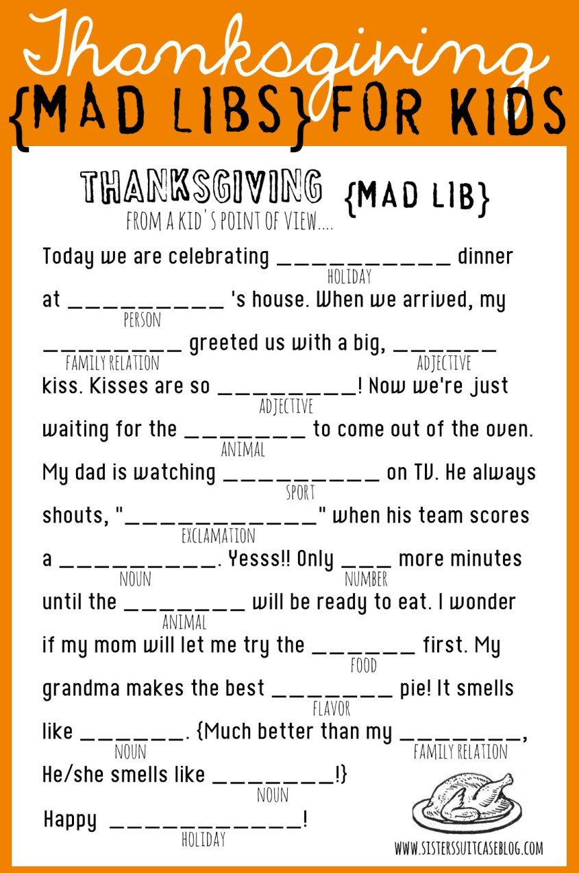 Collection Of Thanksgiving Worksheets For Middle School