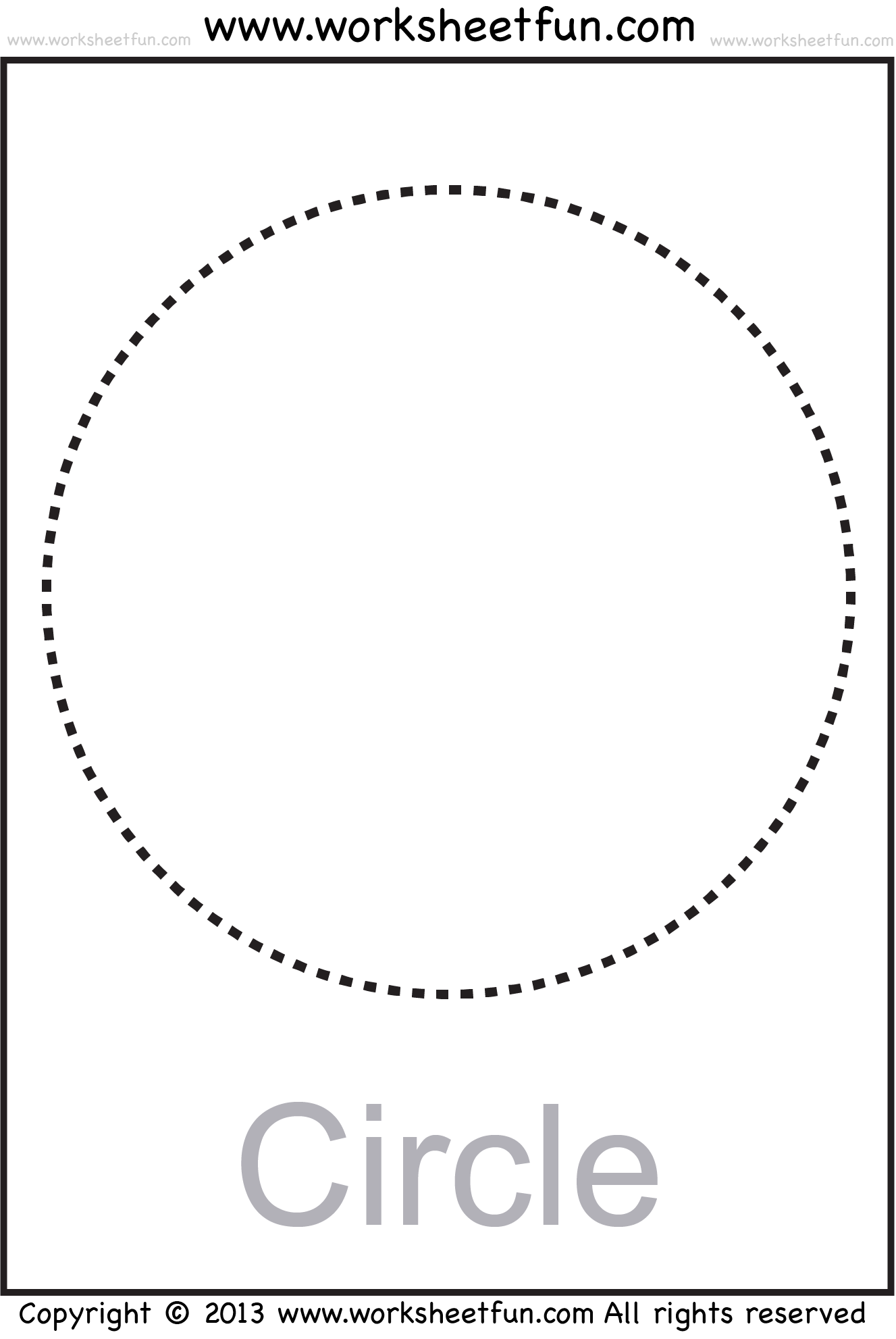 Collection Of Tracing Circles Worksheets For Preschool