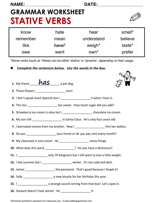 Collection Of Verbs Worksheets Pdf For Kindergarten