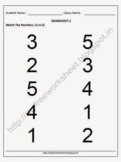 Collection Of Worksheet Of Math For Nursery Class
