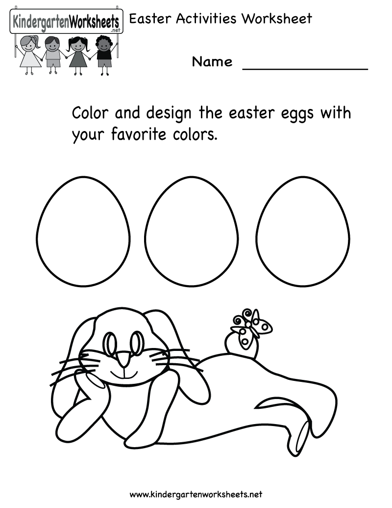 Collection Of Worksheets Activities For Kindergarten