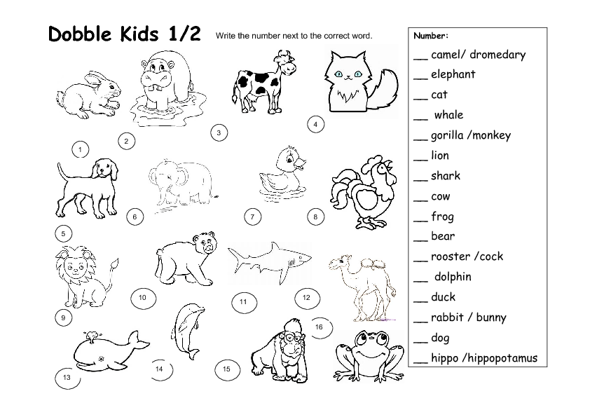 Collection Of Worksheets For Animals For Kindergarten