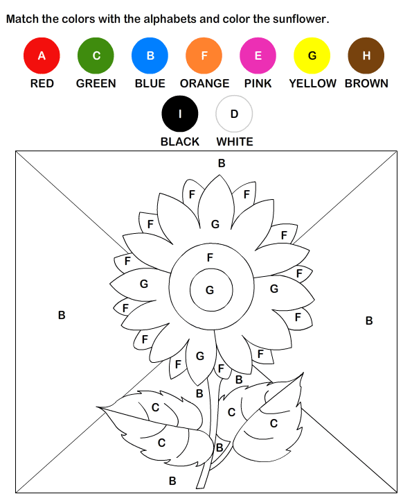 Collection Of Worksheets For Preschoolers On Colors