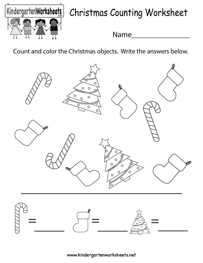 Collection Of Worksheets Kindergarten Christmas