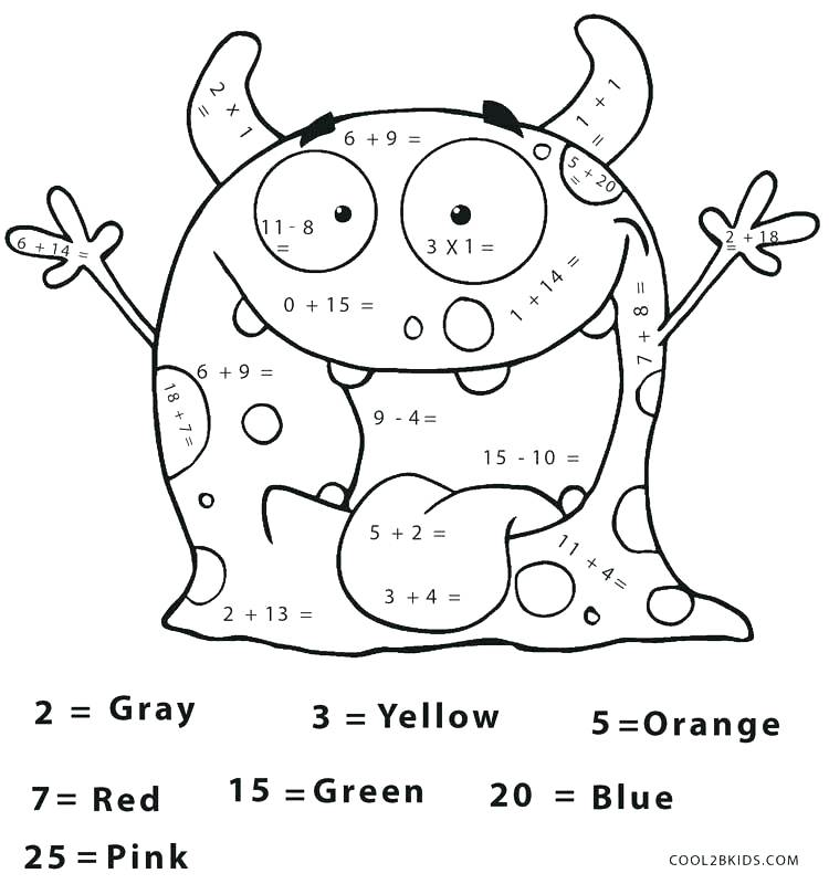 Coloring Pages With Math Coloring Pages Math Worksheets Free