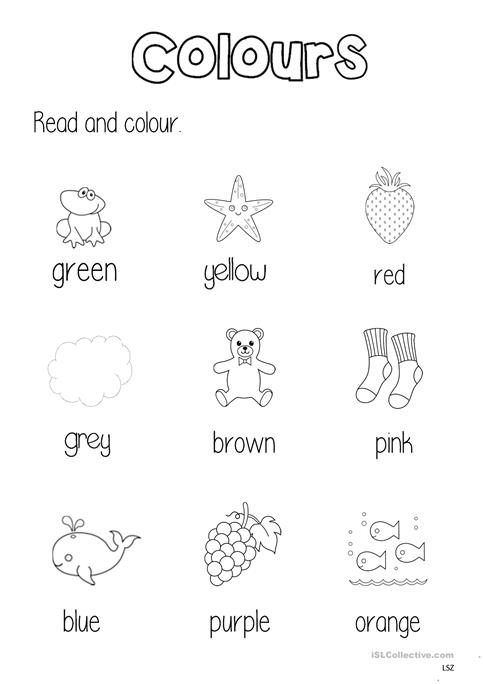 Colours Worksheet Worksheet